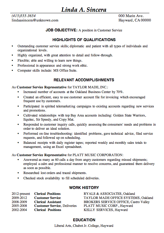 Resume-Sample-Customer-Service